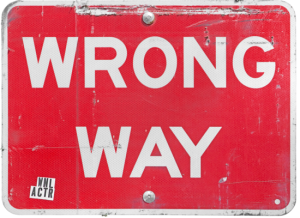 Going the wrong way in life